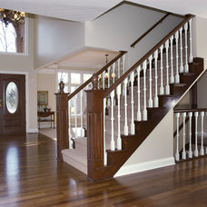 Traditional Staircase by Case Design & Remodeling Indy
