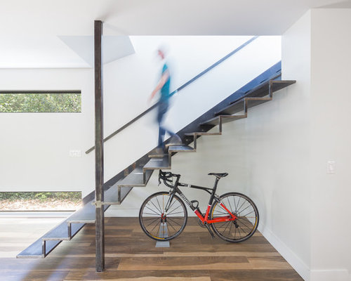 Inspiration For An Industrial Metal Floating Open Staircase Remodel In  Austin