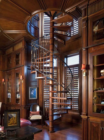 Spiral staircases have their turn in the spotlight - Tight space staircase design ...
