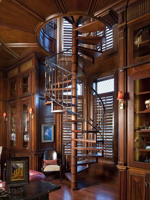 Inspiration For A Timeless Wooden Spiral Open Staircase Remodel In Dallas