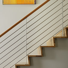Rustic Staircase by DeForest Architects