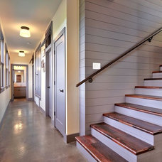 Rustic Staircase by Tim Brown Architecture