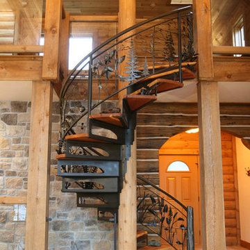 North Woods Spiral Staircase