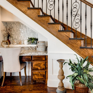 Inspiration for a timeless staircase remodel in Dallas