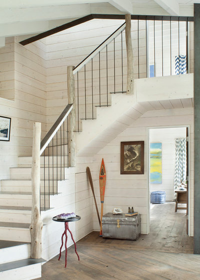 Beach Style Staircase by Pearson Design Group