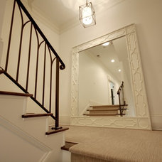 Traditional Staircase by Castro Design Studio