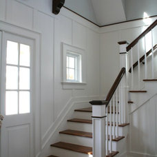 Traditional Staircase by JB Robbie Builders Inc.
