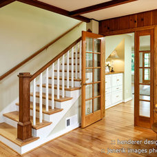 Traditional Staircase by Henderer Design + Build