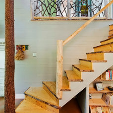 Rustic Staircase by Gilbertson Photography