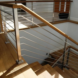 Stainless Steel Interior Railings Staircase Contemporary Idea In Vancouver