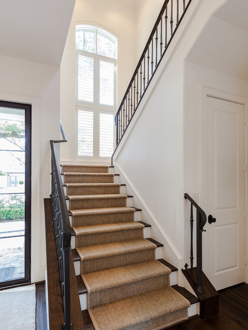 Foyer Staircase Questions : Wood stairs with runner home design ideas pictures