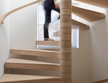 Oak Plywood Spiral Staircase