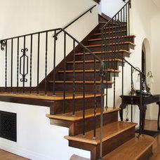 Mediterranean Staircase by HartmanBaldwin Design/Build