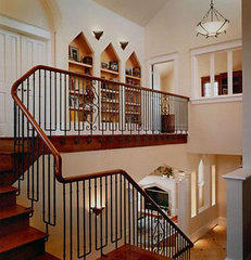 traditional staircase by David Ludwig - Architect