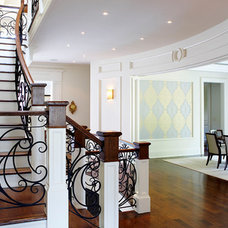 Traditional Staircase Oakville hardwood floor