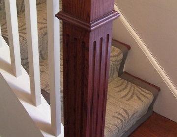 Oceanfront Condominium Renovation - Stair Newel Post