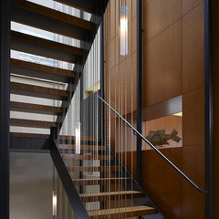 contemporary staircase by Wheeler Kearns Architects