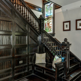 Inspiration for a large timeless wooden l-shaped staircase remodel in Atlanta