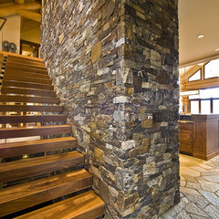 modern staircase by Sticks and Stones Design Group inc.