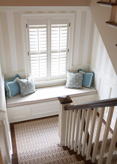 Beach Style Staircase by MuseInteriors