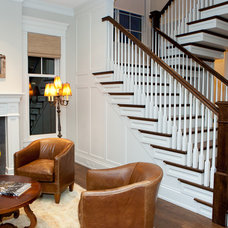 Traditional Staircase by Tandem Architecture & Construction
