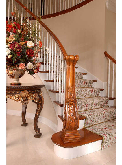 Traditional Staircase by Interiors by Mary Susan