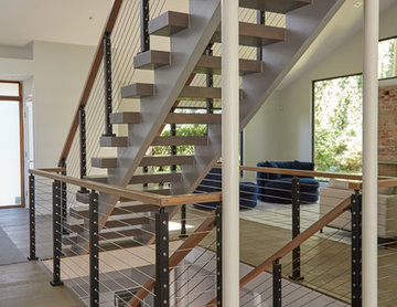 Open Concept Interior with Cable Railing
