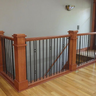 Open Craftsman Stair Railing