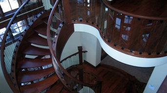 Open Riser Circular free standing stair