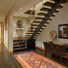 contemporary staircase by Scott Allen Architecture