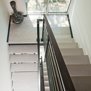Open Three Story Staircase