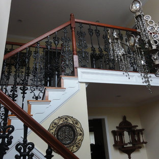 Inspiration for a craftsman staircase remodel in Philadelphia