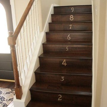 our entryway staircase