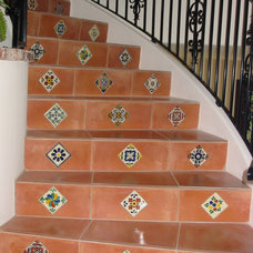 Mediterranean Staircase by Flooring Creations