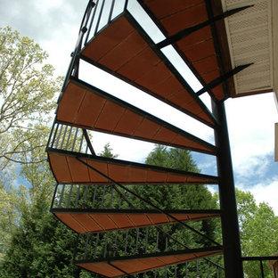 Immagine di una scala a chiocciola classica