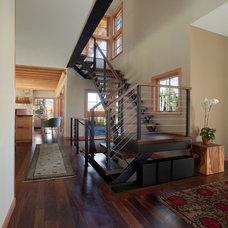 Farmhouse Staircase by TruexCullins Architecture + Interior Design