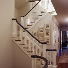 Traditional Staircase by Kendall Wilkinson Design