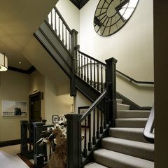 contemporary staircase by Jeffers Design Group