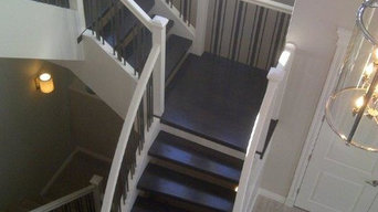 Paint Grade unsupported stringers with Solid Maple treads