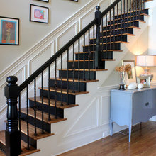 black stair ideas