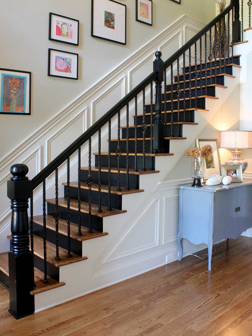 Painted Newel Post | Houzz