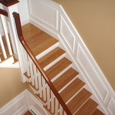 Traditional Staircase by RSR Construction