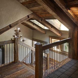 Foto på en rustik trappa