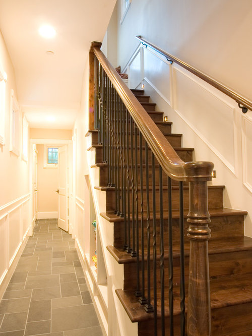 Example Of A Classic Wooden Staircase Design In Houston