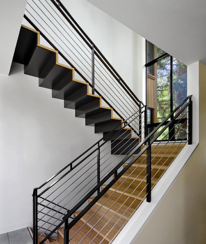 Contemporary Staircase by Cathy Schwabe Architecture