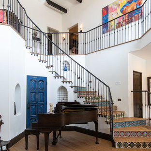 Inspiration for a mediterranean staircase remodel in Los Angeles