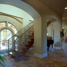 Mediterranean Staircase by Rob Sanders Designer - Custom Home/Remodel Design
