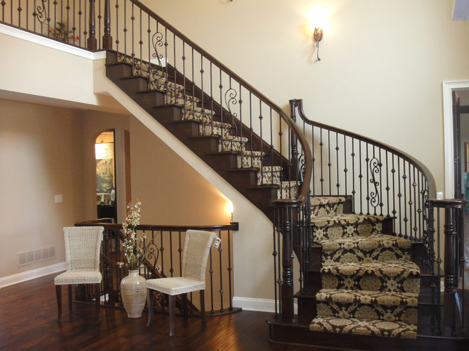 Modern Staircase by Otero Signature Homes