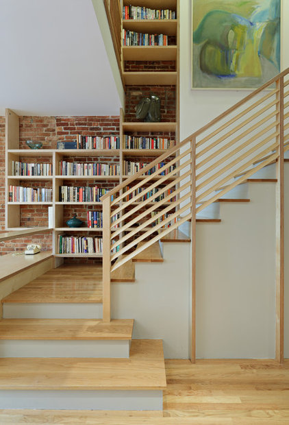 Eclectic Staircase by nC2 architecture llc