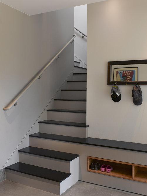 Mudroom Storage Under Stairs : Chic mudroom storage under stairs roselawnlutheran